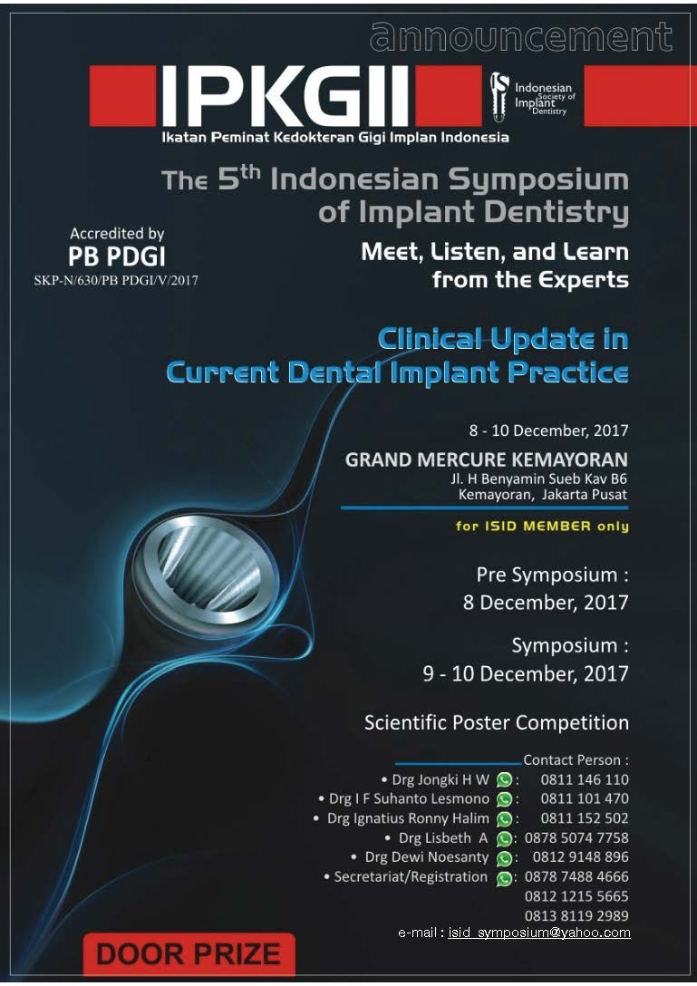 5th Indonesian Symposium of Implant Dentistry