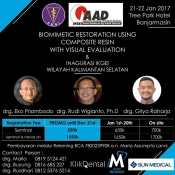 Biomimetic Restoration Using Composite Resin with Visual Evaluation & Inagurasi IKGEI Wilayah Kalimantan Selatan